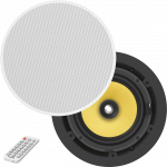An image showing Paire de haut-parleurs de plafond Bluetooth actifs 70 W