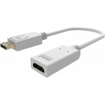 An image showing White DisplayPort to HDMI Adaptor