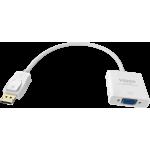 An image showing White DisplayPort to VGA Adaptor
