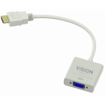 An image showing witte HDMI-naar-VGA-adapter