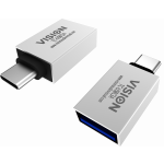 An image showing White USB-C to USB 3.0A Adaptor