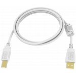 An image showing White USB 2.0 Cable 5m (16.4ft)