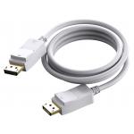 An image showing Câble DisplayPort blanc 1m (3,2pi)