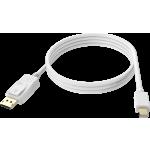 An image showing Câble blanc mini-DisplayPort vers DisplayPort 1m (3,2pi)