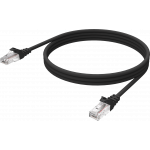 An image showing Black CAT6 Cable 2m (6.5ft)
