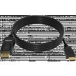 An image showing Câble Noir DisplayPort vers HDMI 2m (6,5pi)