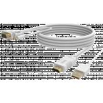An image showing Cavo da HDMI a VGA bianco da 2 m (6,5 piedi)