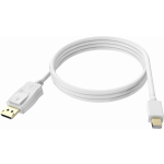 An image showing White Mini-DisplayPort to DisplayPort Cable 2m (6.5ft)