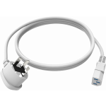 An image showing White UK IEC Power Cable 2m (6.5ft)
