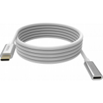 An image showing White USB-C Extension Cable 2m (6.5ft)