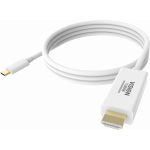 An image showing White USB-C to HDMI Cable 2m (6.5ft)
