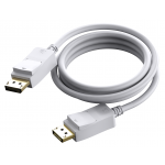 An image showing White DisplayPort Cable 3m (9.8ft)