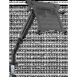 An image showing Sort bordarm med hylde til laptop