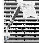 An image showing Hvid bordarm med hylde