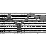 An image showing Braço de secretária preto duplo para monitor 100 × 100