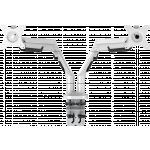 An image showing Suporte de braço para secretária duplo, para ecrãs planos 100 x 100