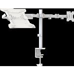 An image showing Wit dubbele bureaustandaard met plank