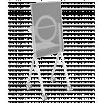 An image showing Supporto da pavimento bianco per Microsoft Hub 2