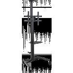 An image showing Carrello per schermi regolabile in altezza con portata di 45 kg