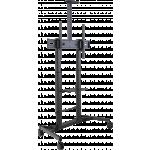 An image showing Carrello per schermi regolabile in altezza con portata di 80 kg