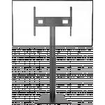 An image showing Suporte de chão para ecrãs planos motorizado, com placa de apoio independente