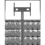 An image showing Supporto da pavimento motorizzato per schermi piatti