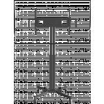An image showing Supporto da pavimento per schermi piatti con ruote