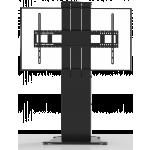 An image showing Supporto da pavimento motorizzato per schermi piatti con piastra da pavimento autoportante