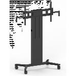 An image showing Supporto da pavimento motorizzato per schermi piatti con ruote