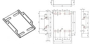 TM-ST2 dimensions wall plate